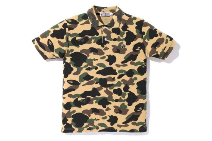 A Bathing Ape Camo Polo Shirts