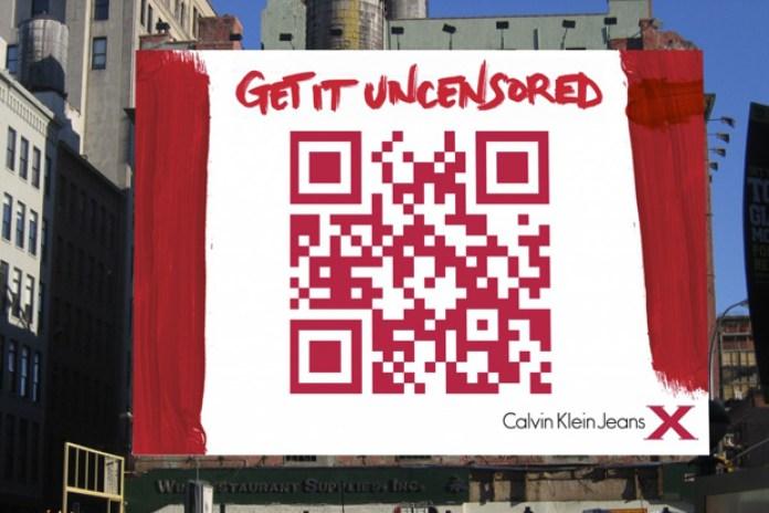 Calvin Klein Jeans QR Code Billboard