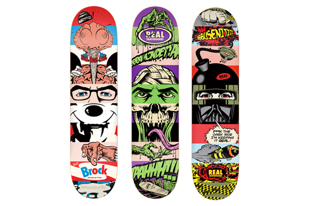 D*Face for REAL Skateboards Skate Decks