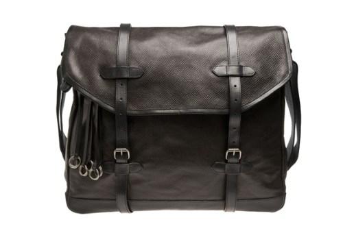 Dries Van Noten Leather Messenger Bag