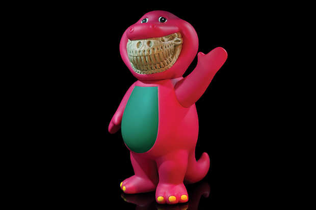 Ron English x Made by Monsters T-Rex Barney Grin