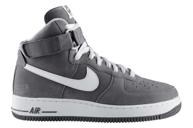 Nike Air Force 1 Hi Light Charcoal/White