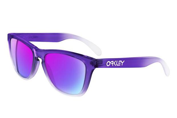 Oakley Purple/Clear Frogskins Sunglasses