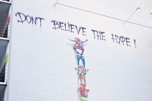 "Os Gemeos ""Don't Believe the Hype"""
