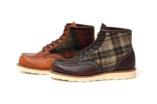 Red Wing x Woolrich Classic Work Boots