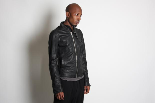Rick Owens Lambskin Leather Mollino Jacket