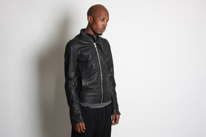 Rick Owens Lambskin Leather Mollino Jacket