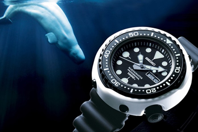 "Seiko 45th Anniversary Prospex Marine Master SBBN19 ""White Dolphin"" Watch"