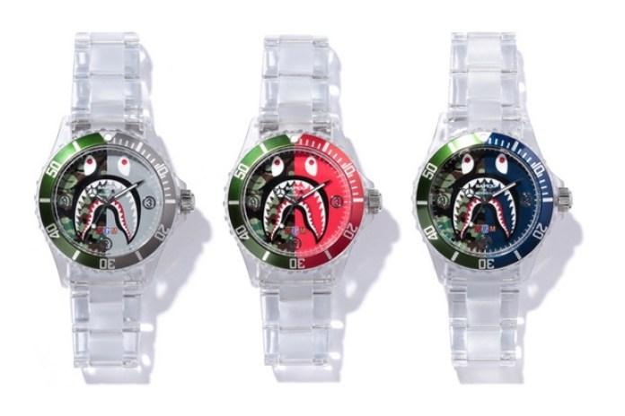 A Bathing Ape Clear Shark Bapex Watch