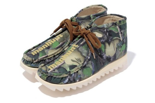 A Bathing Ape Village Camo Manhunt Boots