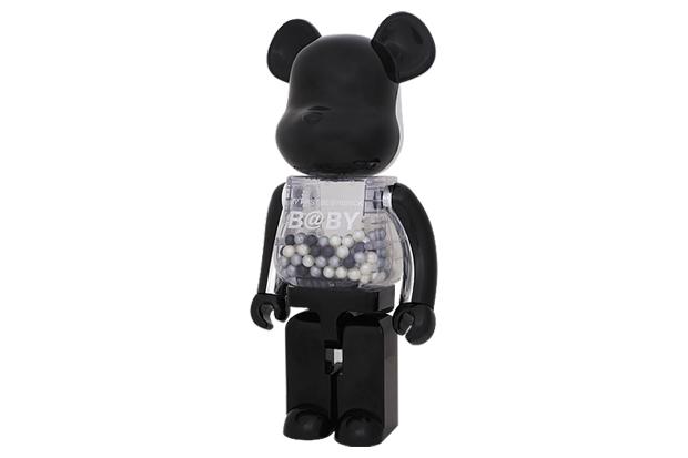 Chiaki x Medicom Toy My First Bearbrick Baby 1000% Black/Silver