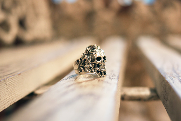 "Crazy Pig Designs ""Dolce Vita"" Skull Ring"