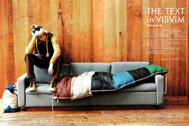 SENSE Magazine: THE TEXT in visvim 2010 Fall/Winter