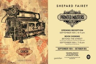 Shepard Fairey Printed Matters @ Subliminal Projects