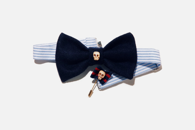 Vanities for Beauty & Youth Skull Bow Tie & Pin