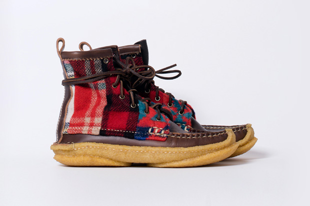 Yuketen Hunt Boots Brown/Red Quilt