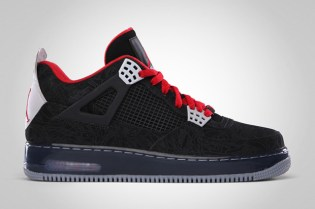 "Air Jordan Fusion 4 ""Laser"" Black/Varsity Red"