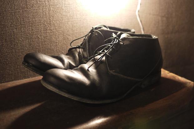Augusta Black Lace Horse Oil Shoe