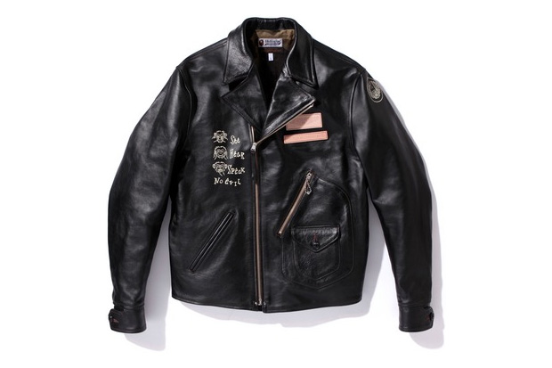 A Bathing Ape x Toys McCoy Leather Jacket