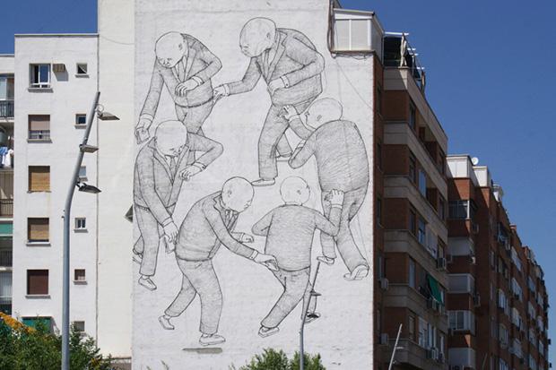 Blu Mural in Madrid