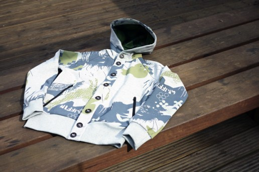 Griffin 2010 Fall/Winter Bladecut Hooded Button Sweat