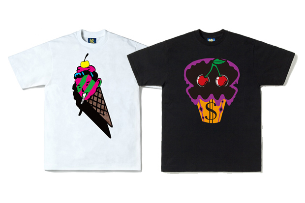 "ICECREAM ""Cornhead"" and ""Sundae Cup Monster"" Tees"