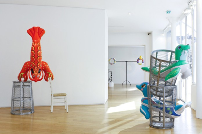 "Jeff Koons ""Popeye Sculpture"" Exhibition @ Galerie Jerome De Noirmont"
