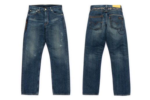 Levi's Fenom 505 and 207 Gold DISCO Decoration Denim