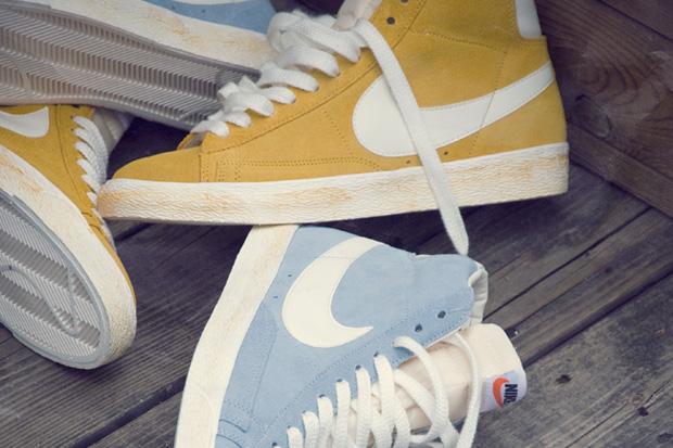 Nike Blazer Hi Vintage Yellow & Blue