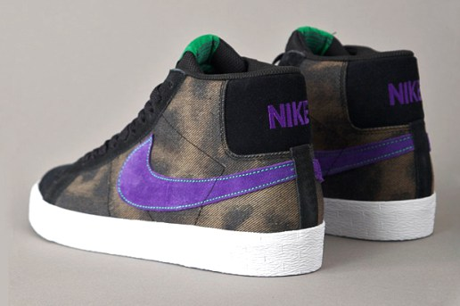 Nike SB Blazer Black/Varsity Purple