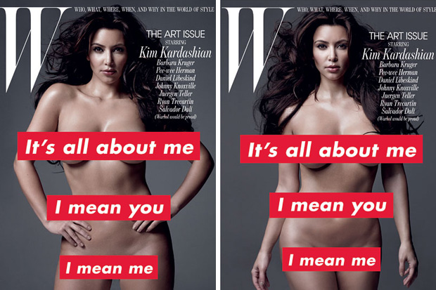 Untitled, 2010 by Barbara Kruger for W Magazine feat. Kim Kardashian