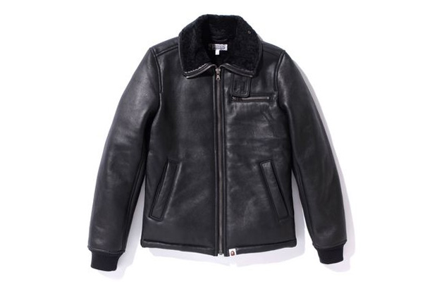 A Bathing Ape Sheepskin Leather Jacket
