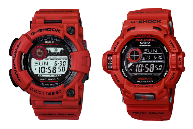 """CASIO G-SHOCK """"Burning Red"""" Collection"""