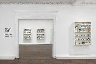 """Damien Hirst """"Medicine Cabinets"""" Exhibition NYC"""
