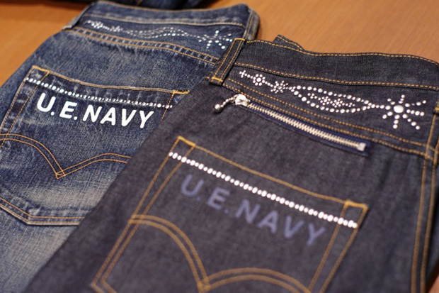 uniform experiment x Levi's Fenom U.E. NAVY DISCO Decoration Denim Preview