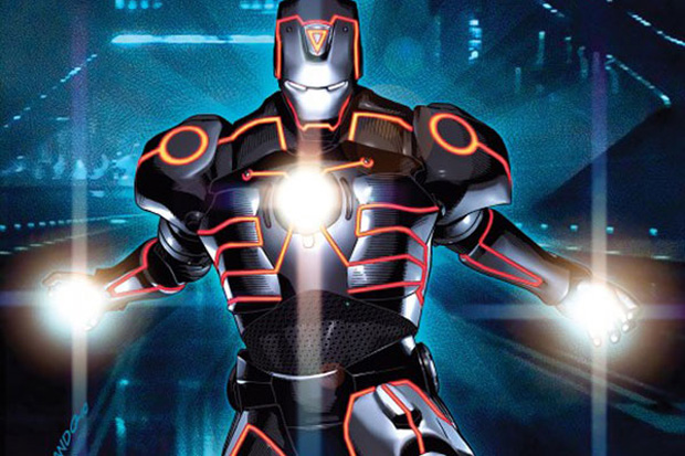 Marvel Comics x TRON: LEGACY Comic Book Covers