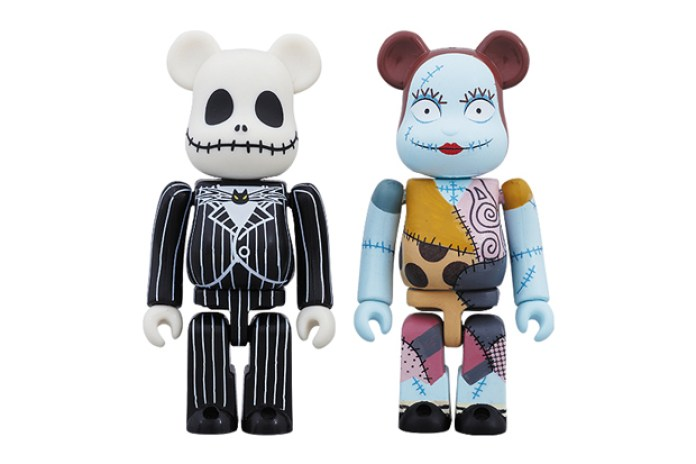 Medicom Toy x The Nightmare Before Christmas Jack Skellington & Sally Bearbrick Set