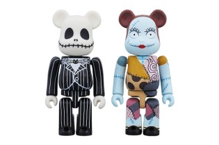 Medicom Toy x The Nightmare Before Christmas Jack Skellington & Sally Bearbrick Set