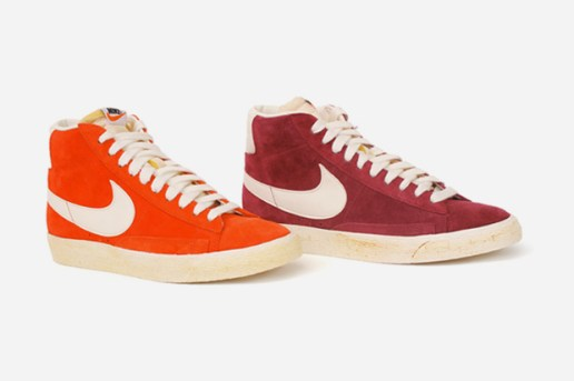 Nike Blazer Hi Vintage Orange & Burgundy
