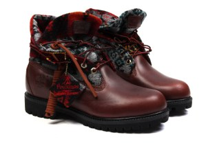 Opening Ceremony x Pendleton x Timberland Roll-Top Boots