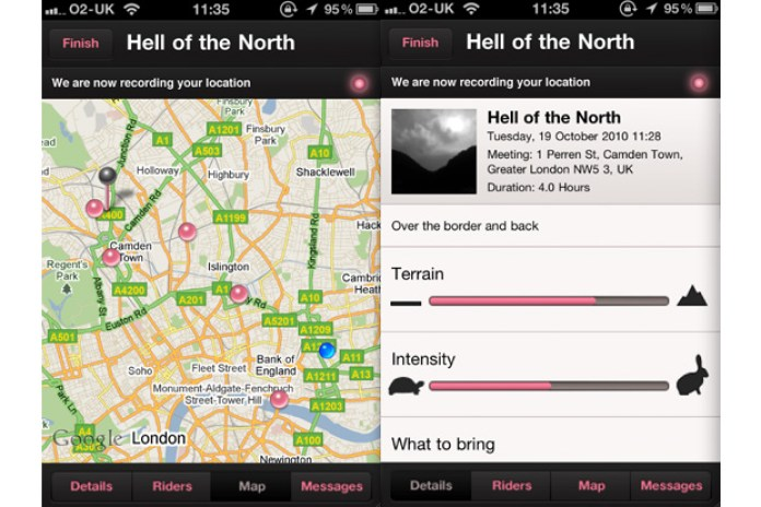 Rapha iPhone App