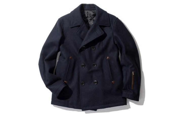 SOPHNET. WOOL MELTON P COAT