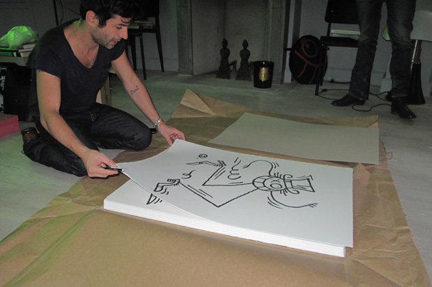 """The Making of André """"Mr. A"""" Prints"""