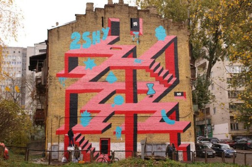 2Shy Kiev Mural