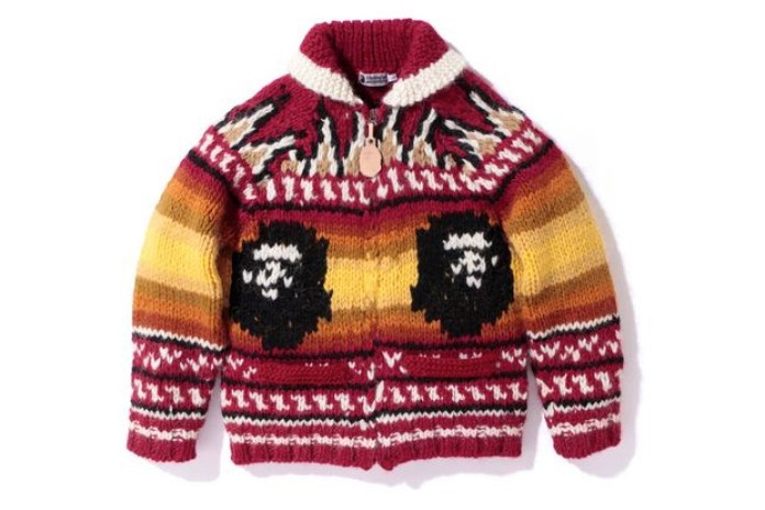 A BATHING APE COWICHAN KNIT JACKET