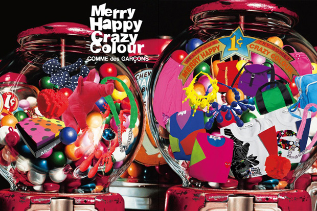 "COMME des GARCONS ""Merry Happy Crazy Colour"" Collection"