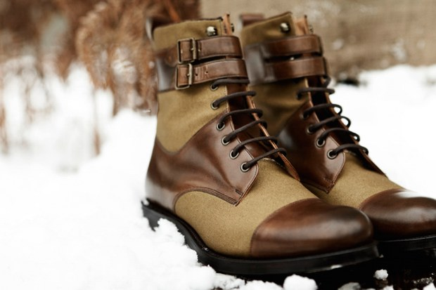 D.S.DUNDEE 2010 Fall/Winter Bannerman Derby Leather Canvas Boot