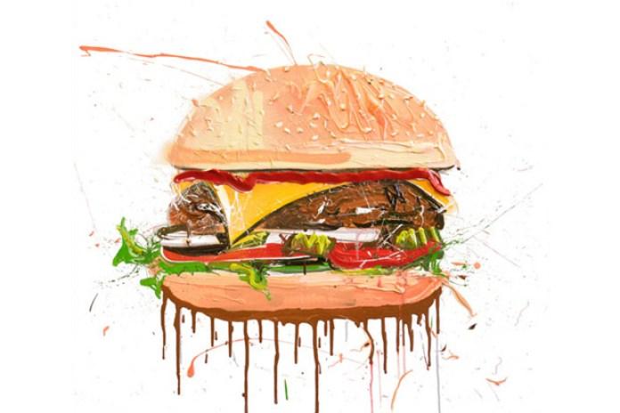 "Dave White ""Cheeseburger"" Painting"