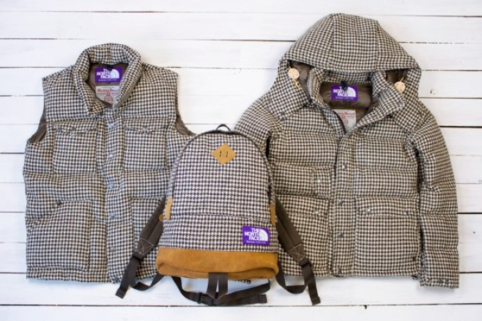 """Harris Tweed x THE NORTH FACE PURPLE LABEL """"Houndstooth"""" Collection"""