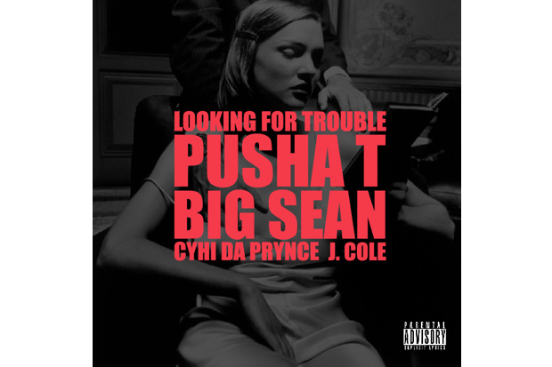 Kanye West featuring J. Cole, Pusha T, Big Sean, Cyhi Da Prynce – Looking For Trouble